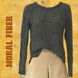 2for$30 MORAL FIBER Chenille Chunky Twisted Cable Knit Sweater with Cutouts